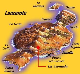 karte lanzarote Lanzarote Landkarte